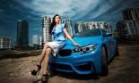 Người đẹp Lệ Hằng gợi cảm cùng BMW M3 2015