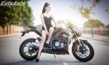 """Người đẹp gợi cảm bên """"thú dữ"""" Kawasaki Z1000"""