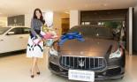 Á hậu Thúy Vân \'sắm\' xe Maserati Quattroporte GranLusso trị giá gần 8 tỷ đồng