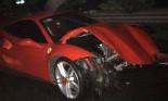 Tuấn Hưng gặp tai nạn, siêu xe Ferrari 488 GTB 16 tỷ nát đầu