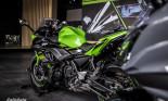"""Kawasaki đốt mắt với """"ngựa chiến"""" Ninja 650 ABS màu xanh Kawa"""