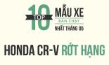 Top 10 xe bán chạy nhất tháng 5/2018: Honda CR-V rớt hạng