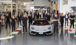 Siêu xe Lamborghini Aventador cán cột mốc khủng