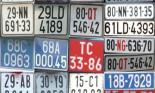 Đang cân nhắc phân loại màu cho biển số ô tô