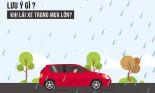 Kinh nghiệm bỏ túi khi lái xe trời mưa, đường ngập