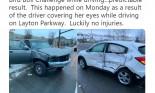 Cái kết tồi tệ cho cô gái bịt mắt lái Honda HR-V như trong phim