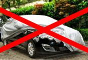 Bạt trùm xe ô tô – nhiều tác hại bất ngờ