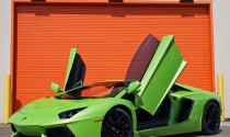 Ngắm Lamborghini Aventador màu xanh cốm đầu tiên trên thế giới