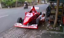 """""""Sốc"""" với xe đua F1 tự chế xuống phố"""