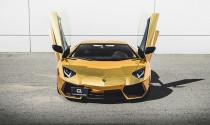 Lóa mắt trước siêu xe Aventador mạ vàng sáng loáng (Dự trữ 03/05)