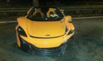 Mới lăn bánh, siêu xe McLaren 650S Spyder đã bị phá nát