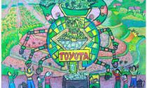 """Bức tranh """"Chiếc ô tô mơ ước"""" của Việt Nam đạt giải vàng"""