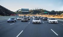 """""""Biệt đội"""" Audi R8 """"dàn trận"""" trên đường cao tốc"""