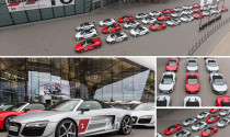 30 chiếc R8 Spyders quy tụ mừng Audi tham dự Hours of Le Mans