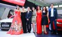 Dàn Hoa hậu, Á hậu, ca sĩ làm nóng gian hàng Audi Việt Nam tại VIMS