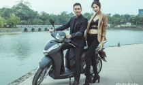 MC Phan Anh lịch lãm, siêu mẫu Hoàng Thùy cá tính bên Honda SH 300i mới