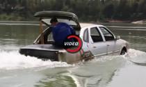 Thợ máy Trung Quốc chế tạo xe lội sông, nước