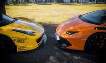 """Ngắm bộ đôi Ferrari 458 Italia và Lamborghini Huracan trong bản độ """"tiền tỷ"""" ở Sài thành"""