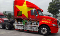 Từ Range Rover tới Container đều trang trí xe để cổ vũ U23 Việt Nam