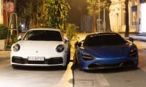 Porsche 911 Carrera S của Cường 'Đô-la' sánh đôi bên McLaren 720S tại thủ đô Hà Nội