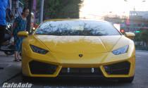 Diện kiến Lamborghini Huracan LP580-2 màu vàng vừa ra biển Cần Thơ