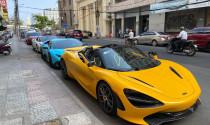 McLaren 720S Spider vàng độc nhất Việt Nam xuống phố cùng cặp đôi siêu xe cực độc