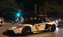 """Lamborghini Aventador LP700-4 """"ở ẩn"""" của đại gia Hà Nội xuống phố cùng bộ áo mới"""