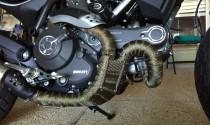 Tác dụng ít ai biết đến của vải quấn cổ pô trên xe moto phân khối lớn
