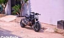 Ducati Monster 821 cực ngầu với phong cách hoàng tử bóng đêm của biker Việt