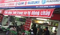 'Công nghệ' chống cháy cho xe máy ở Hà Nội