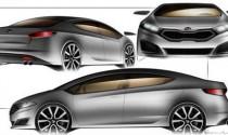 Lộ ảnh thiết kế Kia Forte thế hệ mới
