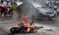 30,25% số vụ cháy nổ xe do chập điện