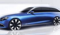 Mercedes-Benz tung hình phác thảo E-Class Estate