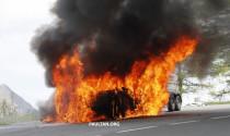 Audi A7 2019 bốc cháy khi đang chạy thử nghiệm