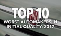 10 nhà sản xuất ô tô có chất lượng ban đầu thấp nhất 2017