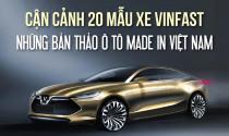 Cận cảnh 20 mẫu xe VinFast – những bản thảo ô tô made in Việt Nam