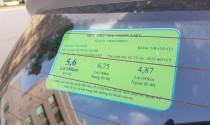 Ôtô 7 đến 9 chỗ ngồi phải dán nhãn năng lượng từ năm 2018