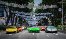 122 chiếc Lamborghini diễu hành đón Lamborghini Urus ra mắt tại Singapore