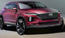 Hyundai Santa Fe 2018 gây bất ngờ với thiết kế mới lạ