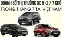 Doanh số xe 5+2/7 chỗ trong tháng 7 tại thị trường Việt Nam