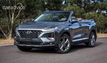 Hyundai bất ngờ hé lộ SUV mui trần trên chiếc Santa Fe Cabriolet 2019