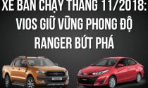 Xe bán chạy tháng 11/2018: Ranger bứt phá, Vios giữ vững phong độ
