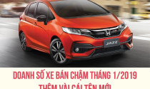 Doanh số xe bán chậm tháng 1/2019: Thêm vài cái tên mới