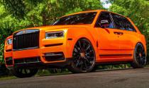 """""""Siêu phẩm"""" Rolls-Royce Cullinan màu cam của cầu thủ Odell Beckham Jr"""