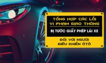Lỗi vi phạm với xe ô tô bị tước giấy phép lái xe 2019 (P1)
