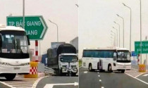 Phạt nặng tài xế chở công nhân đi ngược chiều cao tốc Bắc Giang - Lạng Sơn