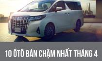 10 ôtô bán chậm nhất tháng 4: Doanh số ảm đảm vì Covid