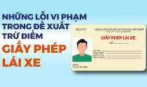 Những lỗi vi phạm cụ thể trong đề xuất trừ điểm giấy phép lái xe