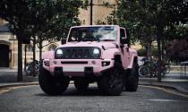 Chiêm ngưỡng Jeep Wrangler màu hồng ấn tượng ngoài đời thực