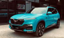 Bắt trend đổi màu xe, VinFast LUX SA2.0 thay bộ cánh màu xanh cực chất tại Sài Gòn